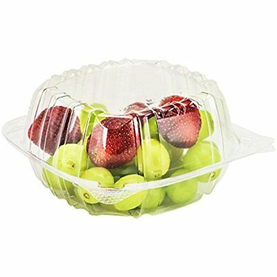 Plastic Food Containers 50 Pc Take Out To Go Box Tight Seal Clear Continer 6