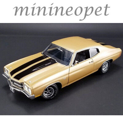 ACME A1805509 1970 CHEVROLET CHEVELLE SS 396 1/18 DIECAST MODEL CAR GOLD