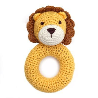 Cheengoo Organic Lion Ring Rattle - baby toys