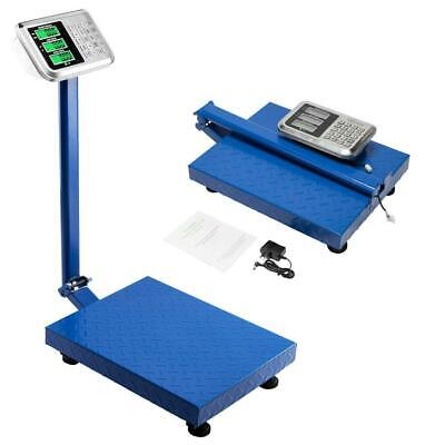 660lbs 300kg Foldable Digital Floor Bench Scale Postal Platform Shipping Us