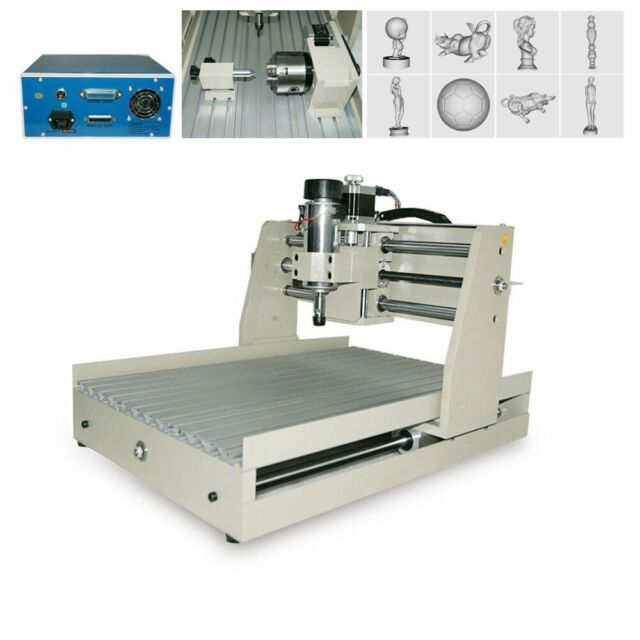 4 Axis 3D CNC Milling Machine Router Drill Wood Cutting Engraving Engraver 3040