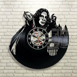 Professor Severus Snape Harry Potter Exclusive Wall Clock Made of Vinyl Record