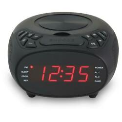GPX Dual Alarm Clock AM/FM Radio with CD Player