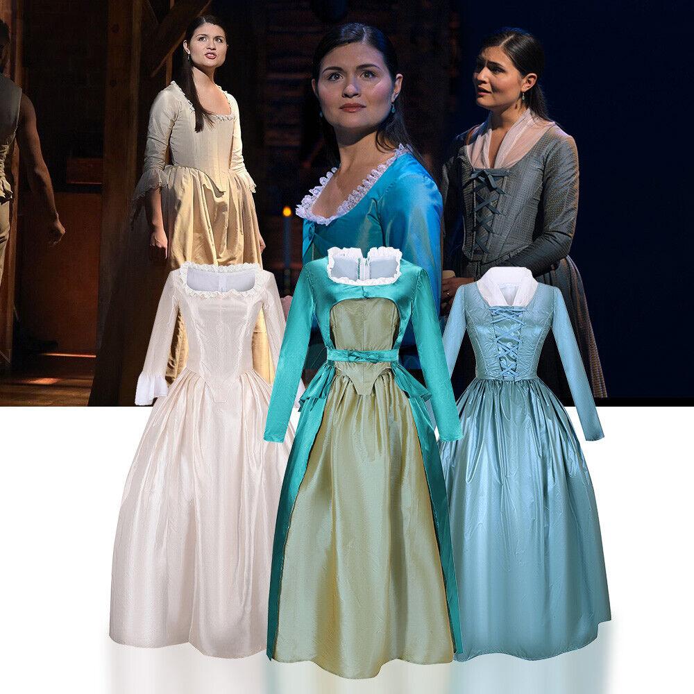 Women Kid/'s Colonial Lady Corset Styled Dress Hamilton Eliza Schuyler Costume #B