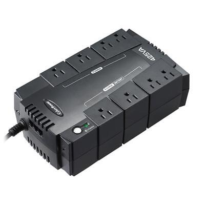 CyberPower 8-Outlet UPS Battery Backup Power Surge Protector Emergency Supply