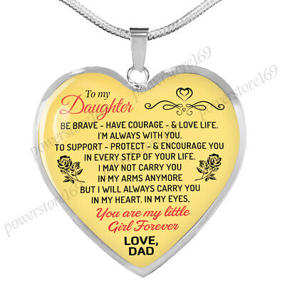 Necklaces For Little Girls (Father and Daughter Necklaces - Daughter Heart Pendant You are My Little)