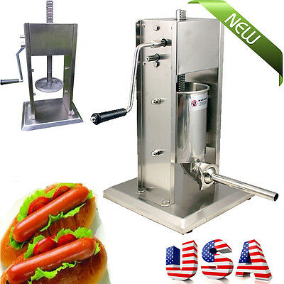 New Commercial Sausage Stuffer Vertical Stainless Steel 5l11lb Meat Filler
