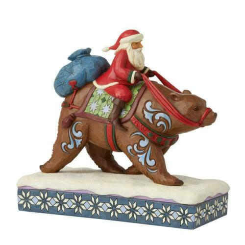 Jim Shore SANTA RIDING BROWN BEAR-BEARING GIFTS FOR ONE AND ALL 6008875 NEW 2021
