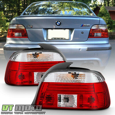 1997 1998 1999 2000 BMW E39 528i 540i M5 Red Clear Tail Lights Lamps Left+Right for sale  Rowland Heights