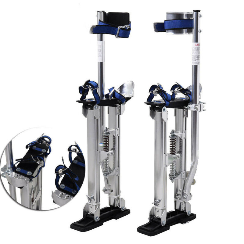 "Silver 24-40"" Drywall Stilts Aluminum Tool For Painting Painter Taping Durable"