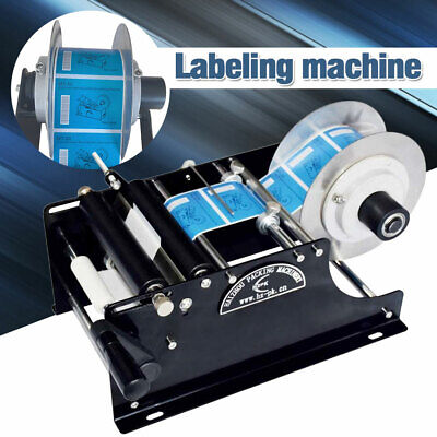 Us Adjustable Electric Semi-automatic Round Bottle Labeling Machine Labeler New