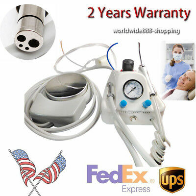 4-hole Dental Lab Portable Air Turbine Unit Compressor Delivery Unit Machine New