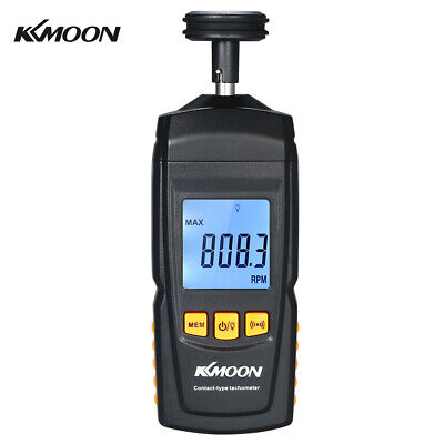 Handheld Contact Lcd Digital Tachometer Motor Speed Tester Rpm Tach Meter K9z1