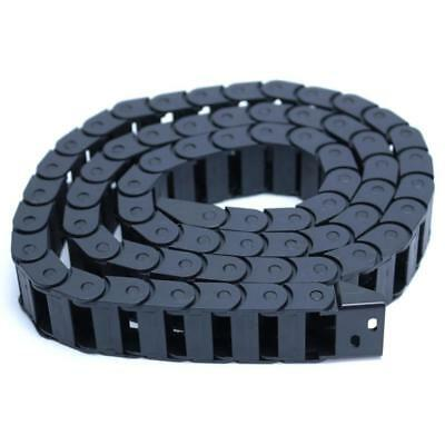 1m 40 R28 Black Long Nylon Cable Drag Chain Wire Carrier 10x20mm Cnc 3d Print