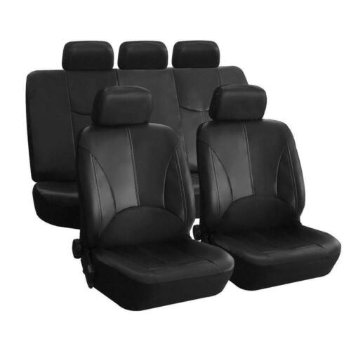 car parts 2011 nissan rogue sl 2.5l - 9Pcs PU Leather Car Auto Seat Cover Front Rear Head Rests Full Set Mat Protector