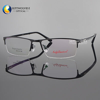 Metal Spectacles for Men Glasses Optical Half Rimless Eyeglass Frame Eyewear RX