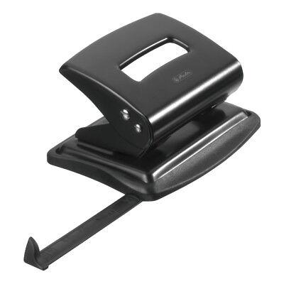 Herlitz Metall-Bürolocher / mit Ansatzschiene / Farbe: schwarz