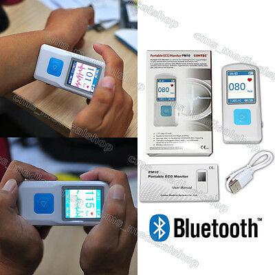 Portable Ecg Monitor Fl10pm10 With Bluetooth Heart Beat Monitor