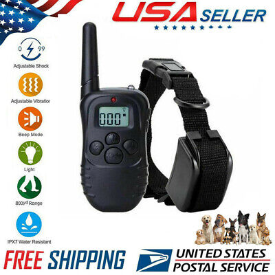 Dog Shock Collar Waterproof Electric for Large 328 Yard Pet Training With Remote