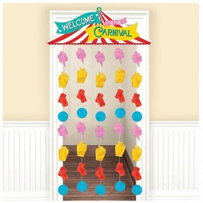 Circus Tent Decorations (CARNIVAL Hanging Doorway Curtain Door Party Room Decorations Circus Big Top)