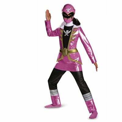 Power Rangers Super Megaforce Costume (Disguise Saban Super MegaForce Power Rangers Pink Deluxe Costume,)