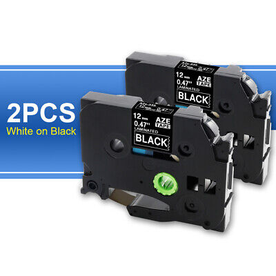 Tze-335 2pk Tz-335 Compatible For Brother P-touch Tze Label Tape White On Black