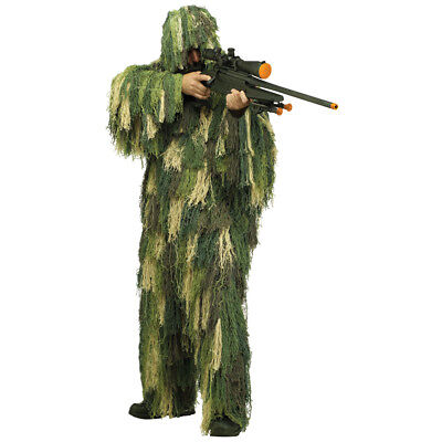 Mens Ghillie Suit Camouflage Costume size Standard - Ghillie Suit Costume