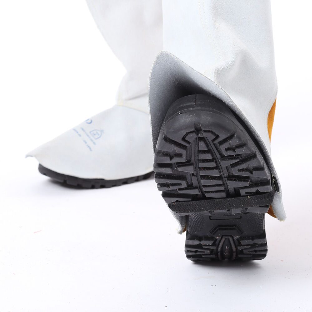 AP-9200 30cm Extra Length Leather Welding Legging and Spat //Shoe Cover Protector