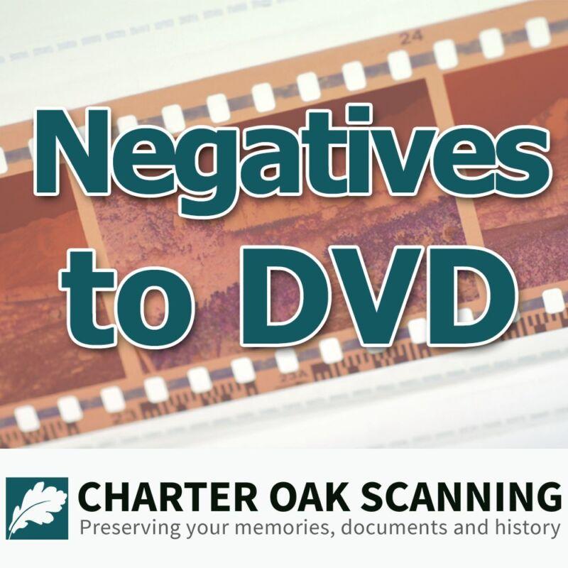 100 Photo Negatives converted to DVD [Photo Negative Scanning Service]