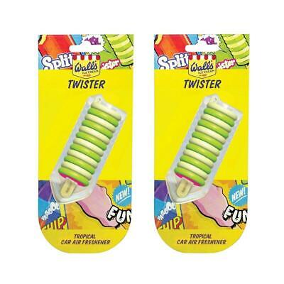 2 x AirPure Walls Ice Cream Lolly Twister Tropical Scented Car Air Freshener