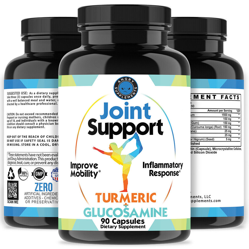 Angry Supplements Joint Support Turmeric Glucosamine Anti In