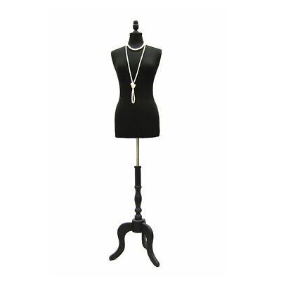 High Quality Size 6-8 Female Mannequin Dress Form Fwp-bkbs-atq-bk Black Base