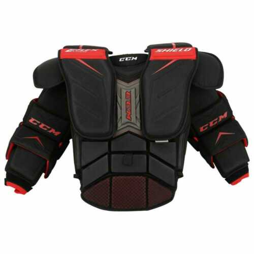 New CCM Extreme Flex Shield Pro Hockey goalie chest arms protector senior Large