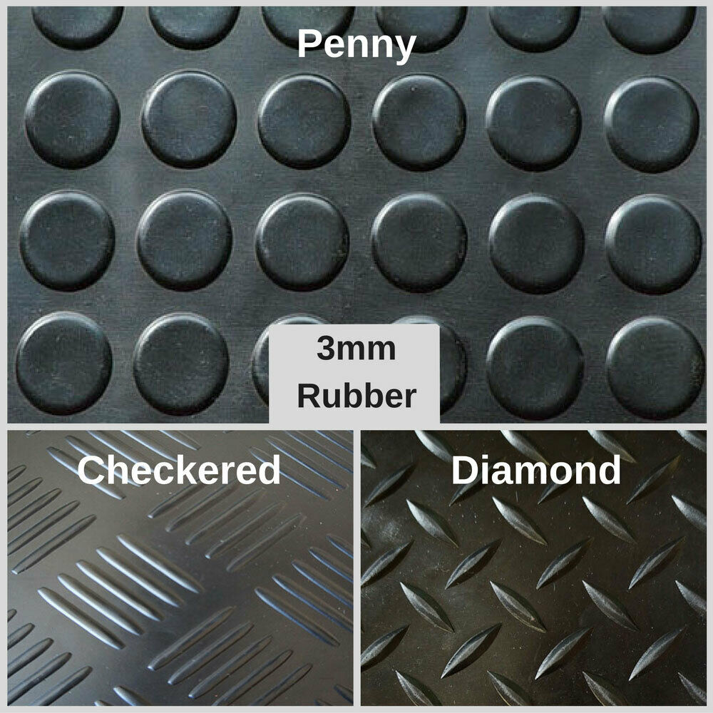 Car Parts - Heavy Duty Rubber Matting Garage Flooring 3mm or 4mm Roll Mat Van Car Lorry