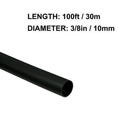38in 10mm Diameter Heat Shrink Tubing Shrinkable Tube 100ft Black