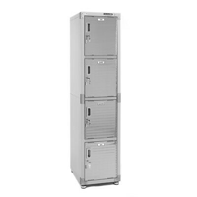 Ultrahd 4-tier Stainless Steel Storage Locker 15 W X 18 D X 72 H Gray