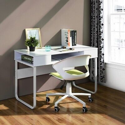 Home Office Laptop Writing Desk Table With Open Drawers Storage 1105575cm Size