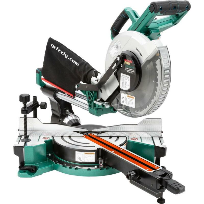 """Grizzly PRO T31634 10"""" Double-Bevel Sliding Compound Miter Saw"""