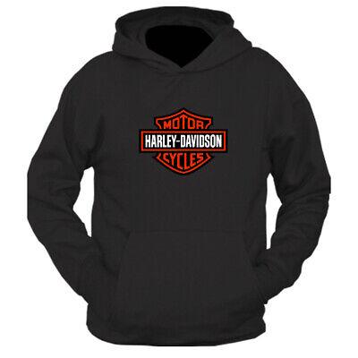 HARLEY DAVIDSON BADGE MOTORCYCLE - MOTORBIKE - BIKER - HOODIE, TOP MENS CLOTHING