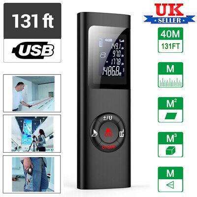 Digital Laser Point Distance Meter Measure Tape Range Finder 40m/131ft Handheld