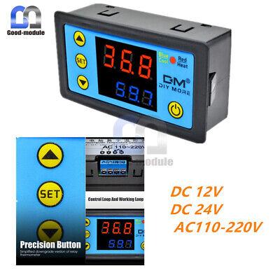 W3231 Digital Dual Thermostat Temperature Controller Ntc Dc12v24vac 110-220v