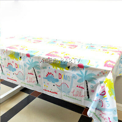 1pcs Dinosaur Theme Birthday Party Disposable Table Cloth Cover(1.08x1.8 - 1 Birthday Theme
