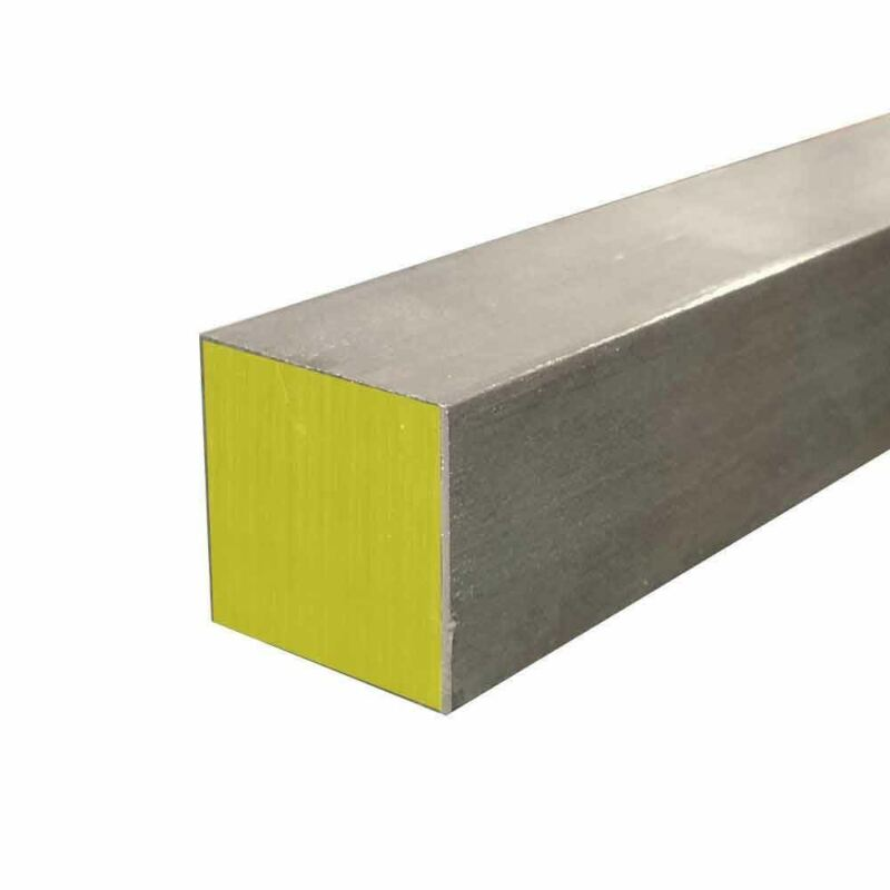 """316 Stainless Steel Square Bar, 1"""" x 1"""" x 18"""" Cold Finished"""