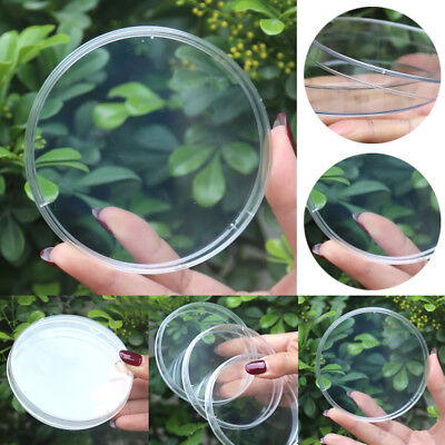 1/10x 90mm Clear Glass Petri Dish Culture Plate With Lid Lab Plasticware (Clear Plasticware)