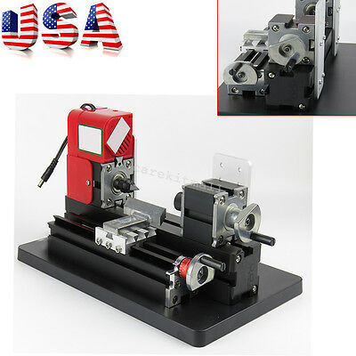From Us Mini Wood Working Lathe Motorized Machine Diy Tool Metal Multi-use Easy