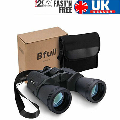 High Power 12x50 Binoculars Waterproof Compact Folding Outdoor Hunting with Bag