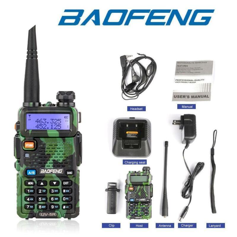 Baofeng UV-5R Green UHF VHF Dual Band Two Way Ham Radio Walkie Talkie