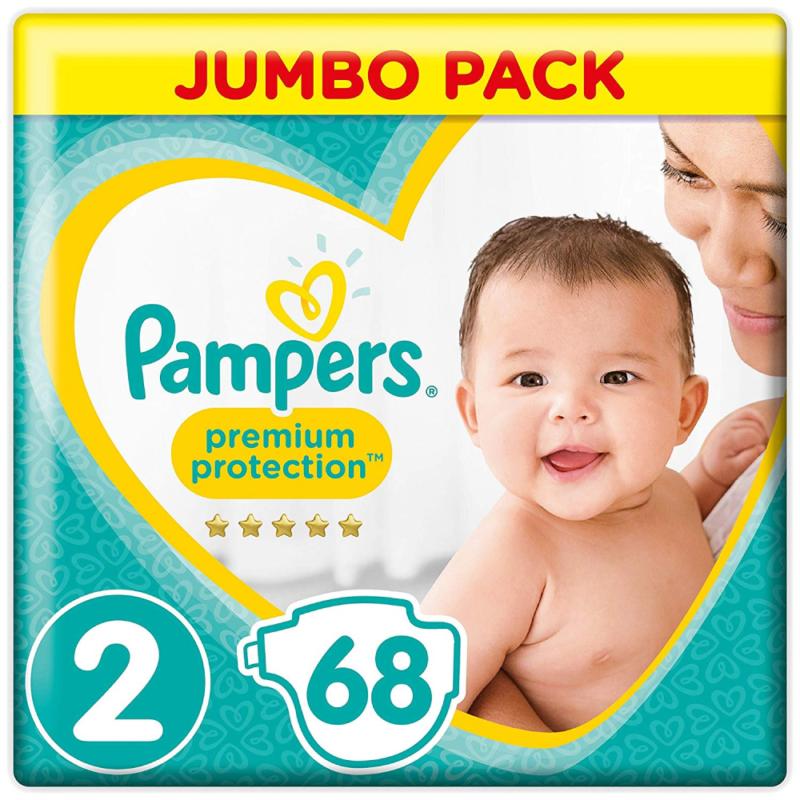 Pampers Premium Protection Windeln New Baby, Gr. 2 Mini (4-8 kg), Jumbopack, 1er