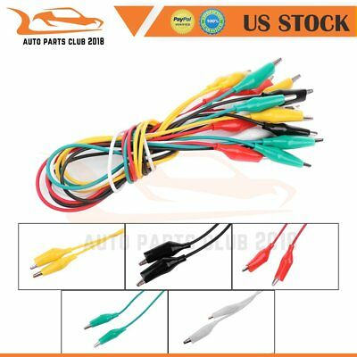 10 Pcs5 Colors Test Lead Set Alligator Clips 20.5 Inches Double-ended Leads