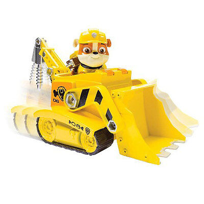 Paw Patrol Rubble Diggn Bulldozer Construction Vehicle Car W Mini Figure Toy 3